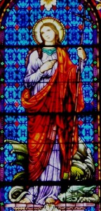 stained glass of st martha