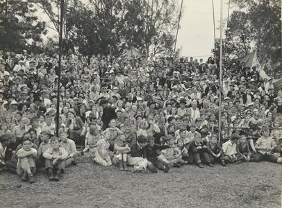 crowds watching circus