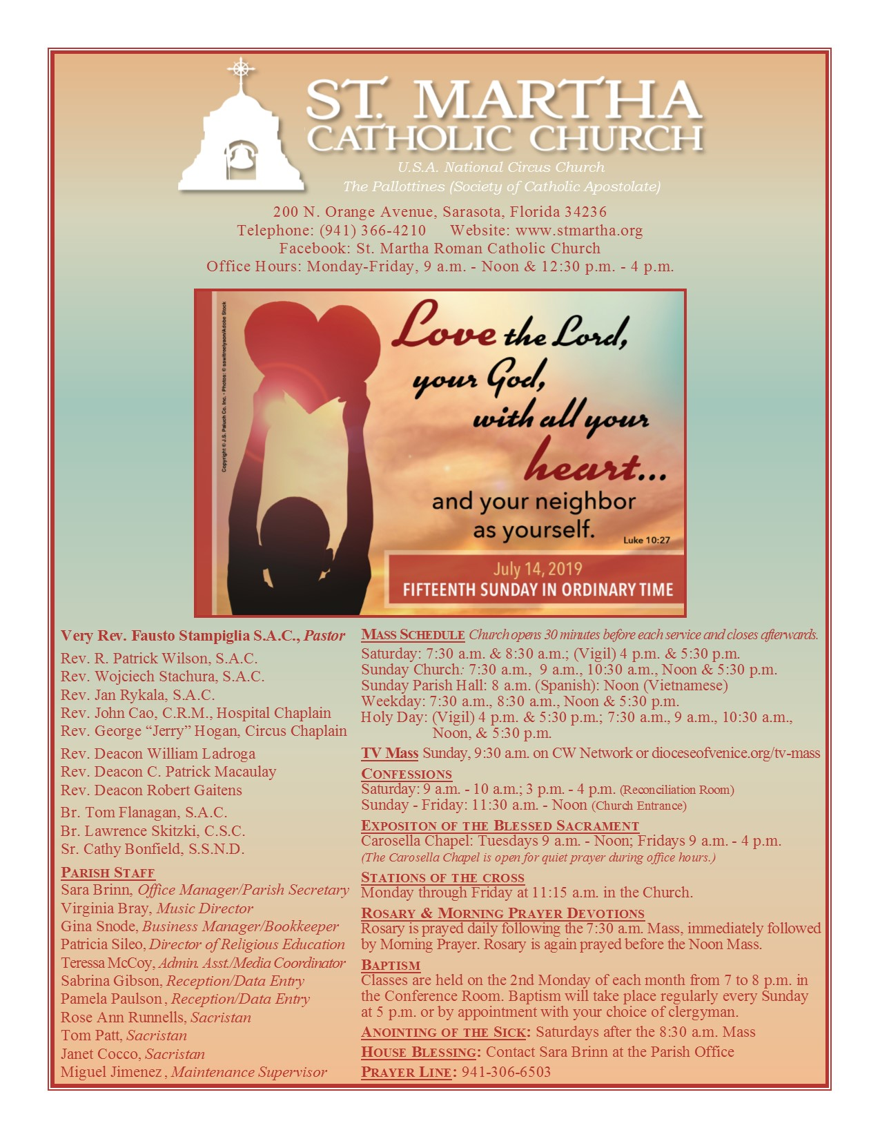 St  Martha Catholic Church » Bulletins