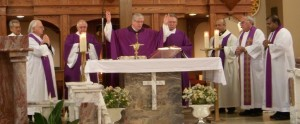 Feast of the Annunciation Mass at St. Martha Church with Bishop Frank Dewane and Church Clergy