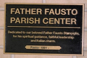 Fr. Fausto Parish Center Plaque