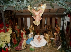 Manger display in Church during Christmas