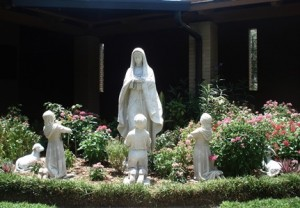 Our Lady of Fatima in Courtyard