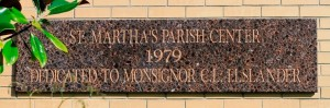 Parish Center Dedication Plaque
