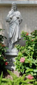 Courtyard - Sacred Heart Statue