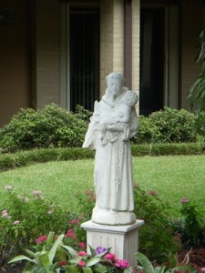 St. Anthony of Padua Statue in Courtyard