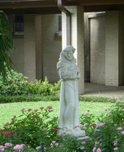 St. Francis of Assisi Statue in Courtyard